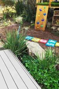 Backyard herb garden to attract hummingbirds and kids! #gardenideas #backyardideas